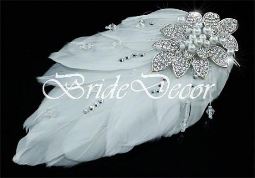 Свадебный гребень «Белое перо»