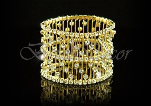 Широкий браслет на руку «Золотая капель»