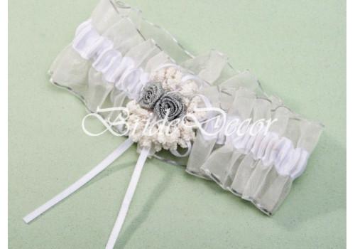 Свадебная подвязка «Серебряные росы»