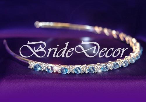 Свадебный ободок «Голубая лагуна»