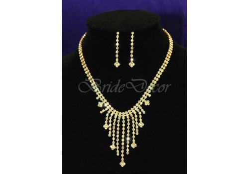 Гарнитур украшений «Золотые капли»