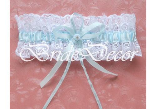 Подвязка на ногу невесты «Нежность небес»