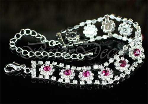 Женский браслет «Пурпурные цветы»